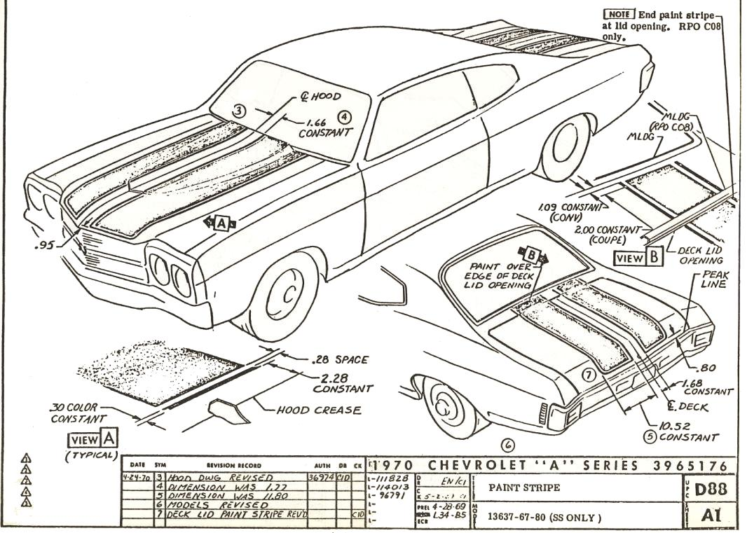 68 Chevelle Fuse Box 20 Wiring Diagram Images Diagrams For Chevy Impala 70 D88 A1 Rev2 Stripe Dimensioning Blueprints Non Stock At Cita